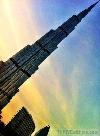 Burj Khalifa the tallest man-made structure in the world, at 829.8 M