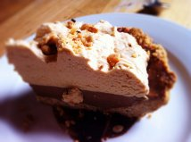 Chocolate Peanut Butter Pie with candied spicy peanuts (I had to share it but I recommend ordering one for yourself!)