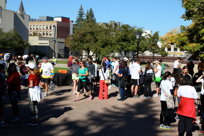 Post the 5k run and 2.5k walk Reception (Rideau Centre Terrace)