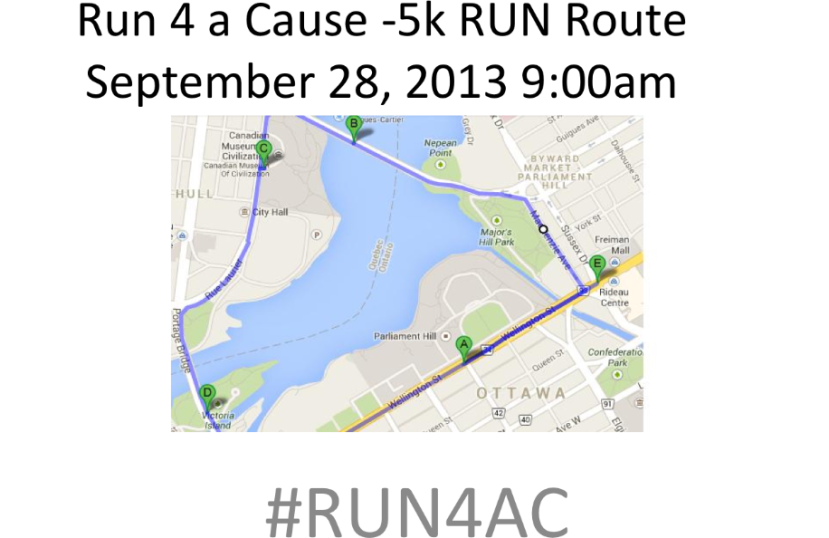 Official map of 5K run