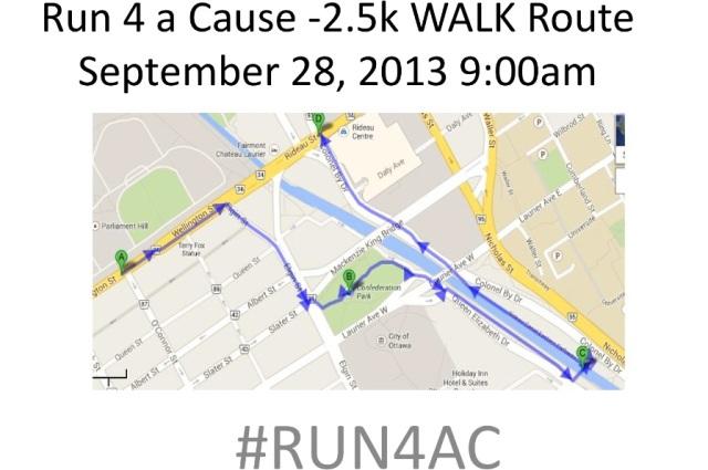 Official Map of 2.5K walk